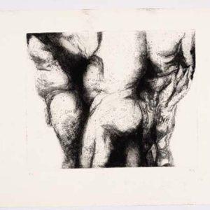 Männlicher Körper von drei Seiten
