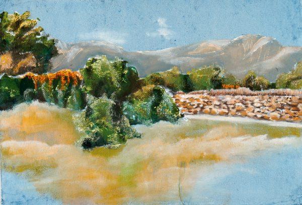 Blick von der Finca aus in die Berge bei Guimar