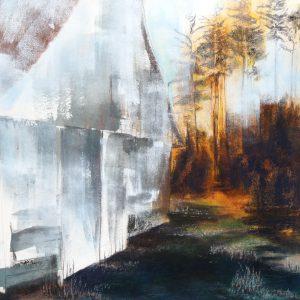 Eine Huette am Waldrand